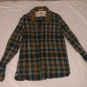 Levis Workshirt Elbow Patch - Green Plaid shirt M